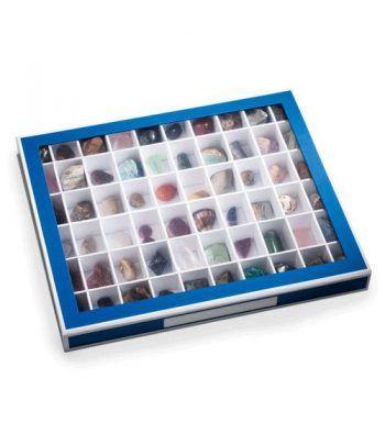 LEUCHTTURM Caja de coleccionismo K60 con 60 divisiones azul  - 1