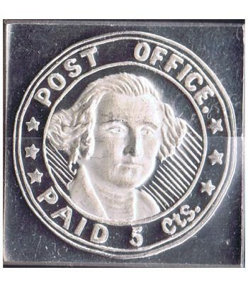 Sello plata U.S.A. 5 Centimos / P.O. 1846.  - 2