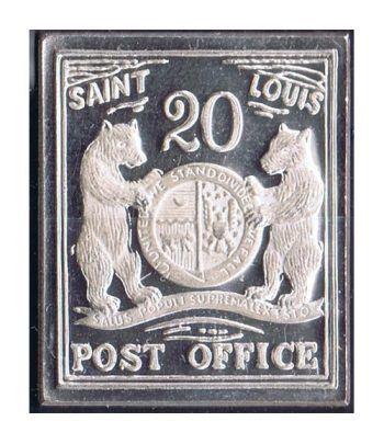 Sello plata Saint Louis U.S.A. 1845.  - 2