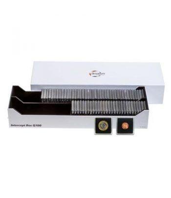 LEUCHTTURM Intercept Box Q 100 para 100 capsulas QUADRUM. Estuche Monedas - 2