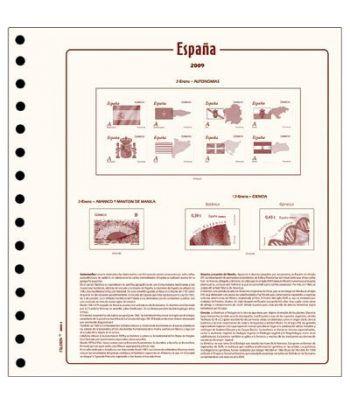FILOBER sellos ESPAÑA 2014 2ª parte montado con estuches Hojas FILOBER Cultural - 2