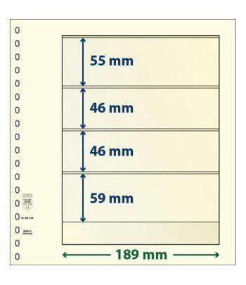 LINDNER Hojas clasificadoras T-Blanko 802404 Hojas Clasificadoras - 2