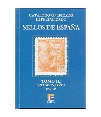 EDIFIL España Serie azul 2015 especializado Tomo III (1936/1975) Catalogos Filatelia - 2