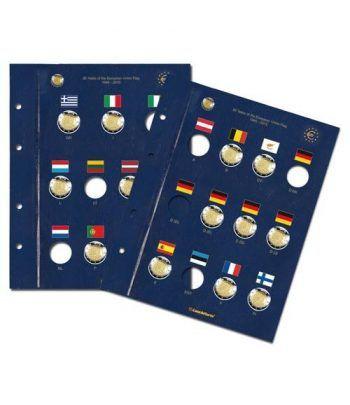 LEUCHTTURM VISTA 2 Hojas para monedas de 2 euros Aº Bandera EU.  - 2