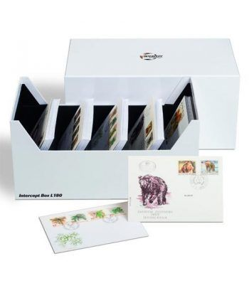 LEUCHTTURM Caja archivadora Intercept para fichas sellos. Fichas Clasificadoras - 2