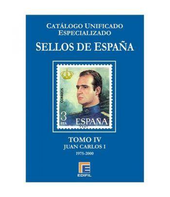 EDIFIL España Serie azul 2015 especializado Tomo IV (1975/2000). Catalogos Filatelia - 2