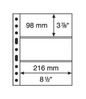LEUCHTTURM GRANDE 5 hojas negro con 3 departamentos Album billetes - 2