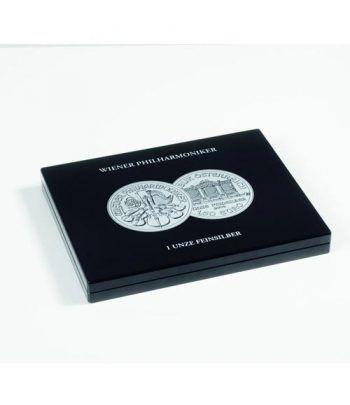 LEUCHTTURM Estuche de madera para 20 monedas Philarmonica. Estuche Monedas - 1