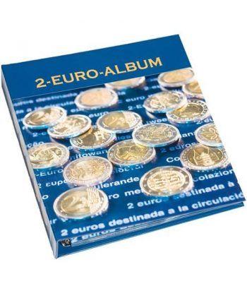 LEUCHTTURM Album preimpreso Numis para monedas de 2 Euros Nº 2. Album Monedas Euro - 1