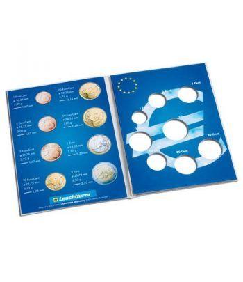 LEUCHTTURM Cartera para una Serie de monedas Euros. Album Monedas Euro - 1