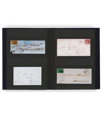 LEUCHTTURM Clasificador postales y Hoja Bloque 32 hojas negras. Clasificadores sellos - 1