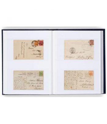 LEUCHTTURM Clasificador postales y Hoja Bloque 32 hojas blancas. Clasificadores sellos - 1