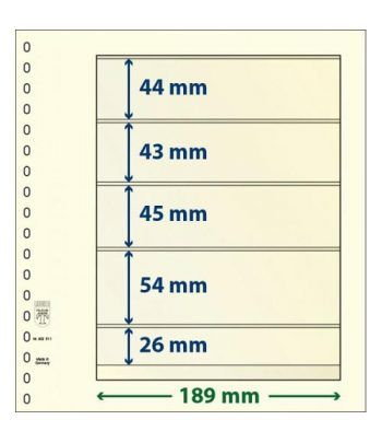 LINDNER Hojas clasificadoras T-Blanko 802511 Paquete de 10  - 2