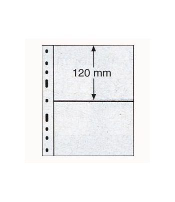 LEUCHTTURM 10 hojas Optima transparentes. 2 departamentos Hojas Clasificadoras - 2