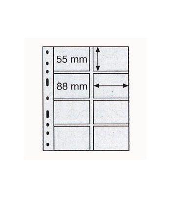 LEUCHTTURM 10 hojas Optima transparentes. 8 departamentos Hojas Clasificadoras - 2