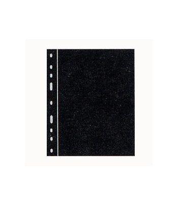 LEUCHTTURM 10 hojas Optima separadoras. Plasticas negras Hojas Clasificadoras - 2