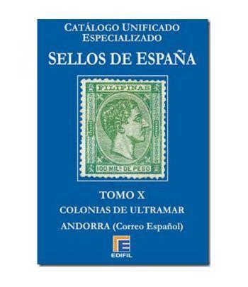 EDIFIL España Serie azul 2019 especializado Tomo X. Catalogos Filatelia - 2