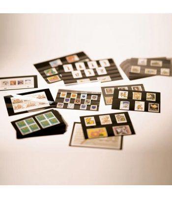LEUCHTTURM Ficha carton negra 158x113. 4 bandas con pr. (100) Fichas Clasificadoras - 2