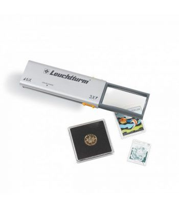 LEUCHTTURM Lupa desplegable-LED DUPLEX. USB.  - 1