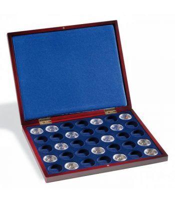 LEUCHTTURM Estuche de madera para 35 monedas hasta 28 mm.  - 1