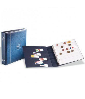LEUCHTTURM Numis Album Euro + 7 hojas (21 paises). Con cajetín. Album Monedas Euro - 2