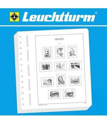 LEUCHTTURM Hojas Sellos Francia 2015/2017 M/T. Hojas sellos Leuchtturm - 2