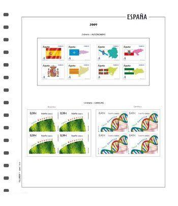 FILOBER Color ESPAÑA 2013 Bl. de 4 2ª p. sin montar Hojas FILOBER Color - 2