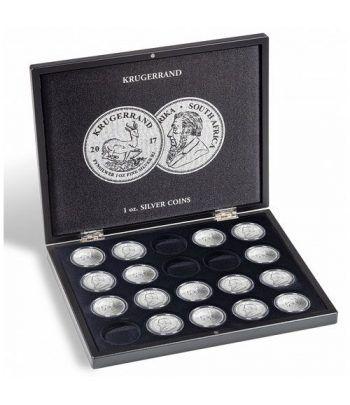 LEUCHTTURM Estuche de madera para 20 monedas Krugerrand. Estuche Monedas - 1