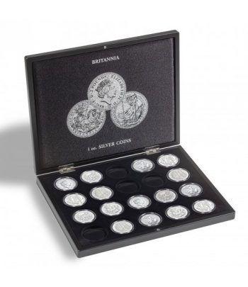 LEUCHTTURM Estuche de madera para 20 monedas Britannia Estuche Monedas - 1