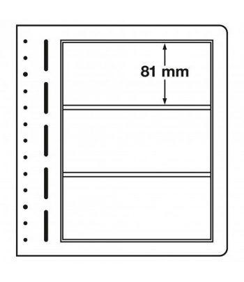 LEUCHTTURM hojas en blanco LB 3 divisiones. Hojas Clasificadoras - 1