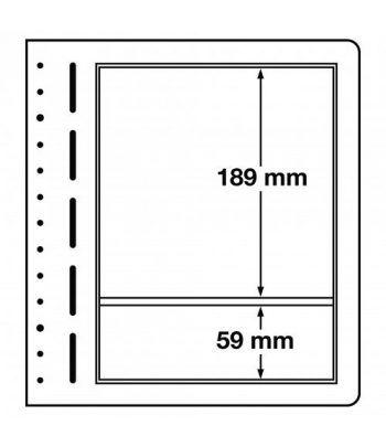 LEUCHTTURM hojas en blanco LB 2 MIX. 2 divisiones variadas. Hojas Clasificadoras - 1
