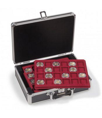 LEUCHTTURM Maletín para 144 monedas CARGO S6 con 6 bandejas NEGRO Maletines monedas - 1