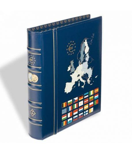 LEUCHTTURM CLASSIC Album Euro tapa imitación Piel (238x270). Album Monedas Euro - 2