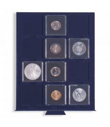 LEUCHTTURM Bandeja SMART para 12 monedas con carton o QUADRUM Bandeja Monedas - 2