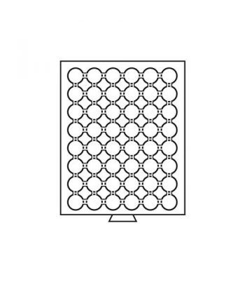 LEUCHTTURM Bandejas MB (236x303) 48 monedas CAPS 22-23 Bandeja Monedas - 1