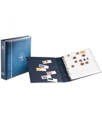 LEUCHTTURM Numis Album Euro + 7 hojas (21 paises). Sin cajetín. Album Monedas Euro - 2