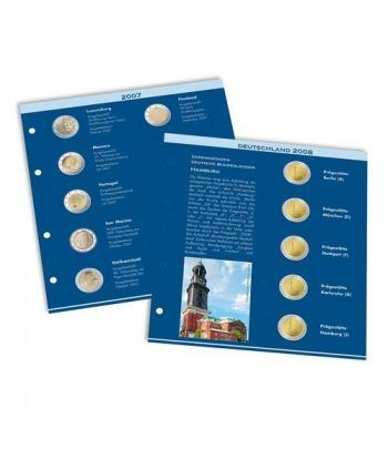 LEUCHTTURM Suplemento 2020 álbum NUMIS Preimpreso 2 euros Album Monedas Euro - 2