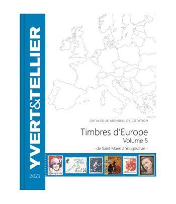 Catálogo de sellos YVERT ET TELLIER Europa San Marino a Yugoslavia 2021  - 1