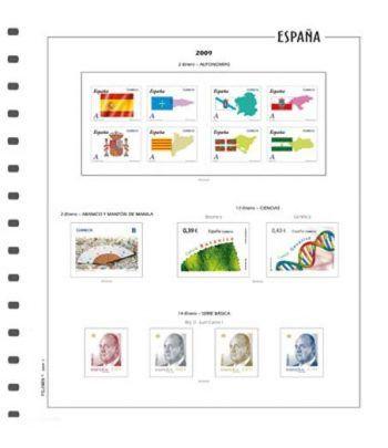 FILOBER suplemento color sellos ESPAÑA 2021 1ª parte montado Hojas FILOBER Color - 2