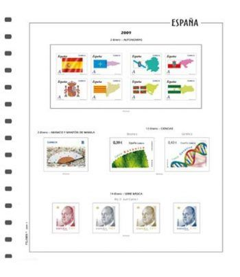 FILOBER suplemento color sellos ESPAÑA 2020 2ª parte montado Hojas FILOBER Color - 2