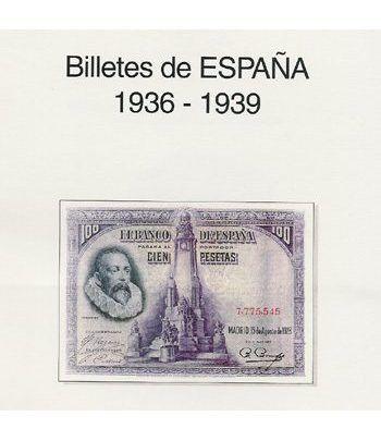 EDIFIL. Hojas billetes Guerra Civil-Zona Republicana (1925-1938) Album billetes - 2