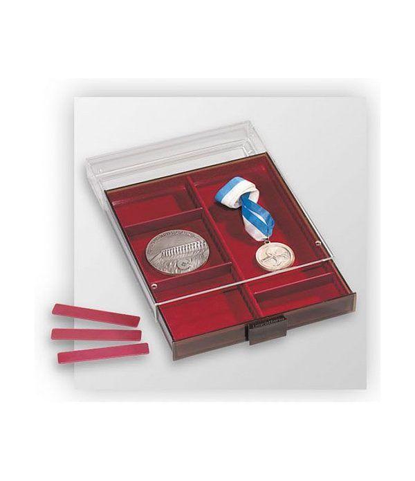 LEUCHTTURM Bandejas MBXL (236x303) 2 divisiones variables 33mm. Bandeja Monedas - 1