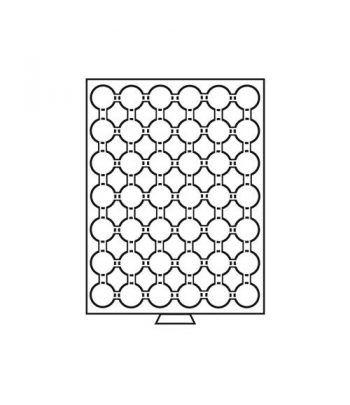 LEUCHTTURM Bandejas MB (236x303) 42 monedas CAPS 24-24,5 Capsulas Monedas - 1