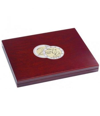 LEUCHTTURM Estuche de madera para 35 monedas de 2 Euros. Logo Estuche Monedas - 1