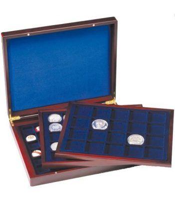 LEUCHTTURM Estuche de madera con 3 bandejas para varios tamaños Estuche Monedas - 2