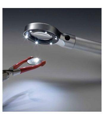LEUCHTTURM Lupa Luminosa LED con 3,2 aumentos Lupas - 2