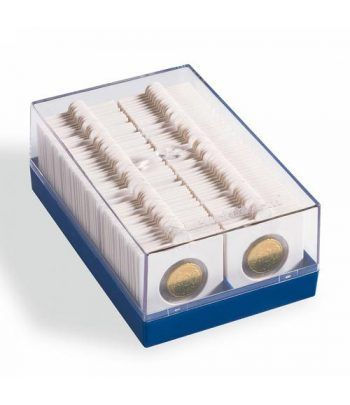 LEUCHTTURM Caja para 100 cartones de monedas. Cartones Monedas - 2