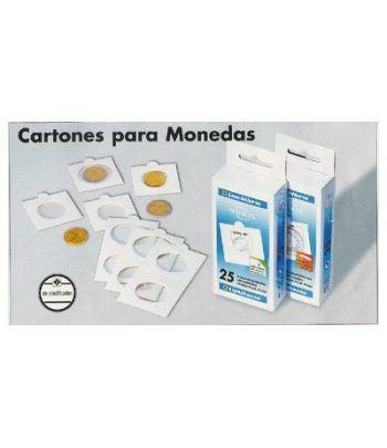 LEUCHTTURM 100 cartones adhesivos monedas 39.5 mm. Cartones Monedas - 2