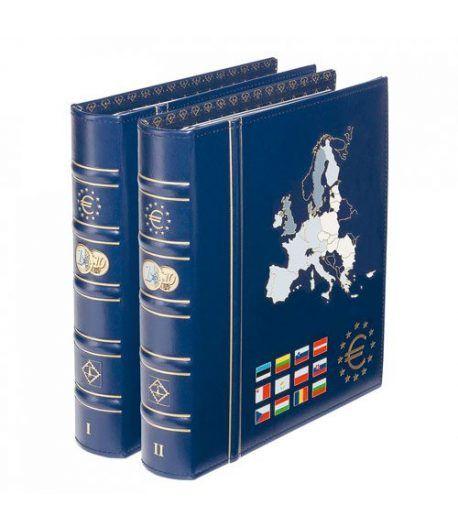 LEUCHTTURM VISTA Album Euro 1+2. Todos los paises. Con Cajetín. Album Monedas Euro - 1