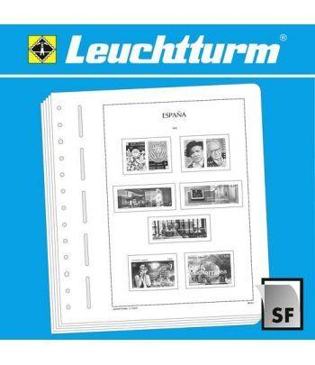 LEUCHTTURM España 2008-2011 (montado con estuches) Hojas sellos Leuchtturm - 2